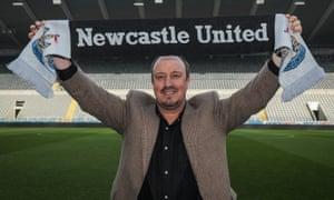 Newcastle United unveil new manager Rafael Benítez.