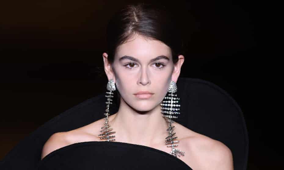Diamante fish-skeletons at Saint Laurent, Paris fashion week, AW18/19.