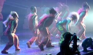 Abstract concert dancers