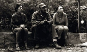 Fidel Castro sits with Celia Sánchez, left, and fellow guerrilla Haydee Santamaria in the Sierra Maestra, Cuba, in 1958.