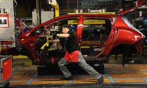 The Leaf production line at Nissan's Sunderland plant.