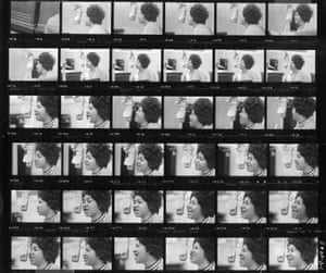 A contact sheet of photographs of Franklin from 1969