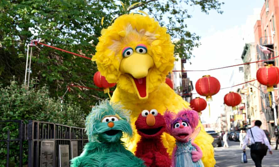 Sesame Street on location in Chinatown.