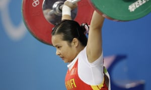 Chinese weightlifter Chen Xiexia.