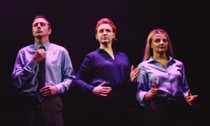 Jack Wilkinson, Katherine Pearce and Charlotte O'Leary in Sticks and Stones.