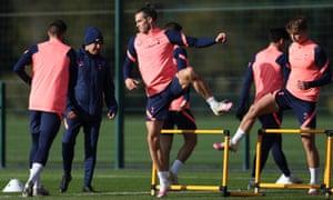 Gareth Bale training for Tottenham