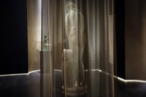 A marble statue of ancient Greek goddess Aphrodite is displayed for the first time in the National Archaeological museum in Athens.