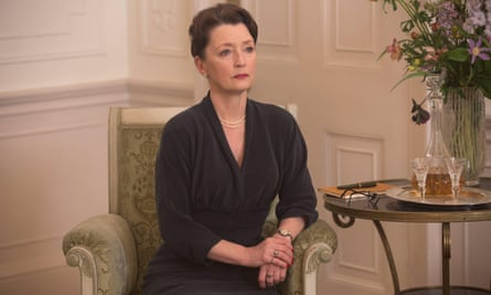 Lesley Manville as Woodcock's sister Cyril.