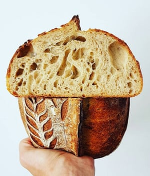 A particularly artful loaf from Hove baker Paul Robinshaw, @_flour_water_salt on Instagram.