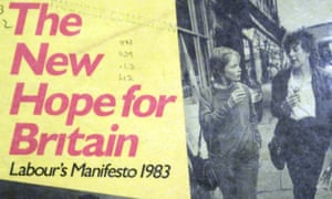 Front cover of Labour's 1983 manifesto.