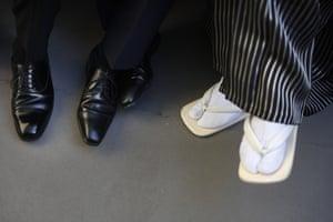 Traditional zōri sandals are often worn