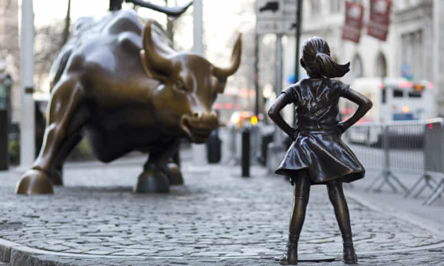 The Fearless Girl sculpture in New York.