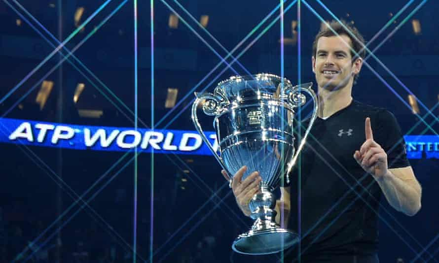 A victorious Andy Murray at last year's ATP World Tour finals in London.