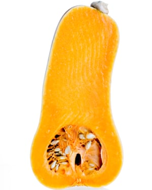 Crunchy: butternut squash.