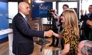 Sajid Javid and his wife Laura