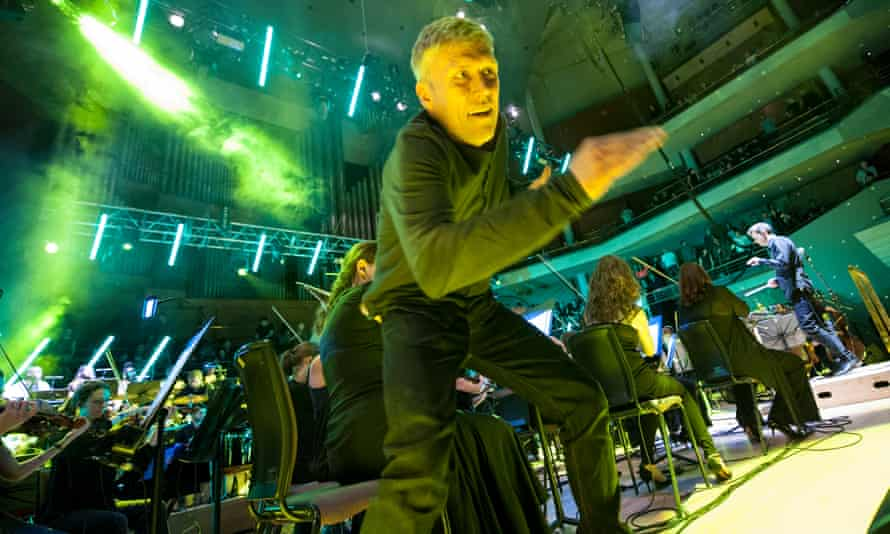 Freaky dancing … Bez on stage with Manchester Camerata.
