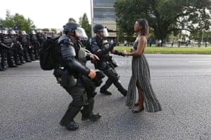 Contemporary issues– singles, first prize Leshia Evans stands her ground while offering her hands for arrest during a protest against police brutality in Louisiana, US
