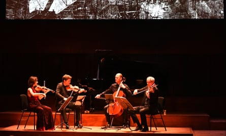 Spicy-sweet strains … Casals Quartet in action at the Barbican.