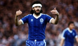 Steve Foster during the FA Cup final replay at Wembley in 1983 – he was suspended for the first game when Brighton drew 2-2 with Manchester United.