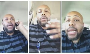 Stills from the Facebook Live video in which Steve Stephens confessed to murdering Robert Godwin.