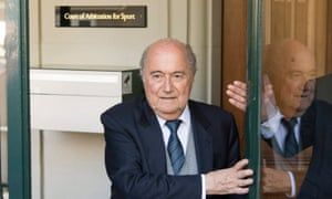 Sepp Blatter leaves the Court of Arbitration for Sport in Lausanne, Switzerland last month