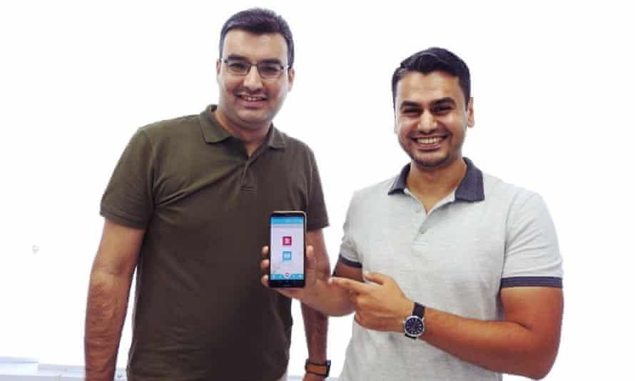 Ameen Hadeed, right, and developer Ammar Alwazzan have created the Pharx pharmacy app.