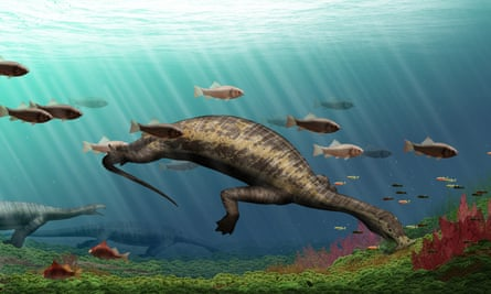 A reconstruction showing what Atopodentatus unicus would have looked like in life