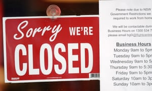 A commercial business closed in Sydney on August 13, 2021, during the city's COVID-19 lockdown.