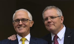 Scott Morrison with Malcolm Turnbull