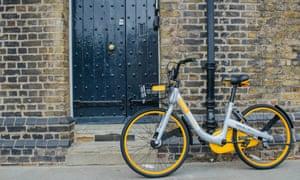 An oBike bicycle