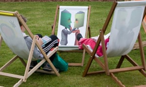 Emotionally intelligent ... readers in deckchairs at the Guardian Hay festival in 2009.