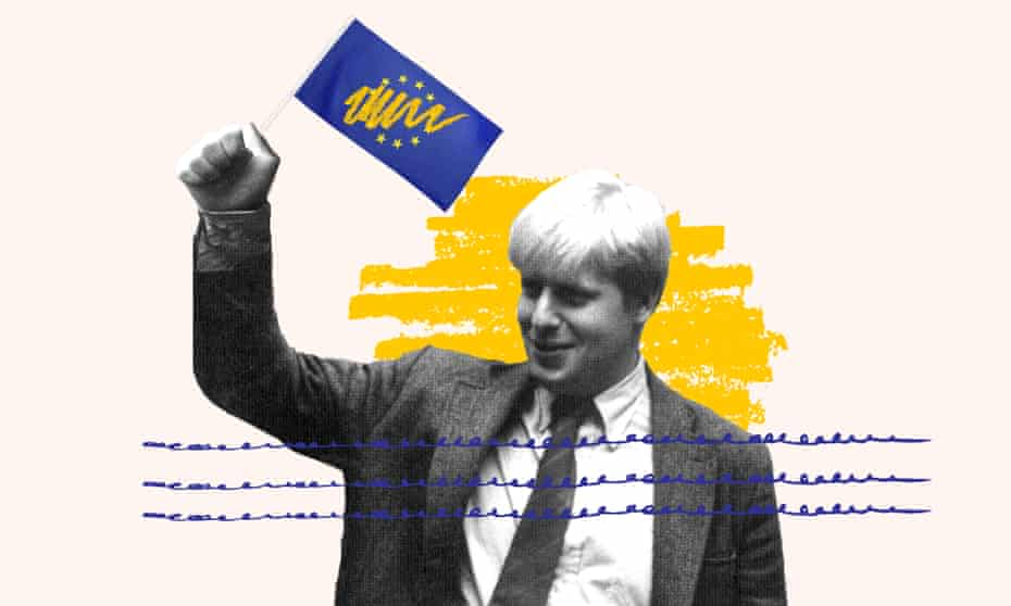 Boris Johnson in Brussels in about 1990