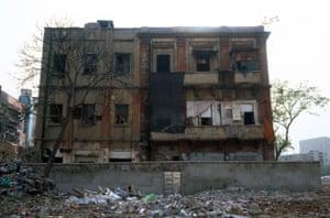 Residential building awaiting demolition, Hankou, Wuhan.