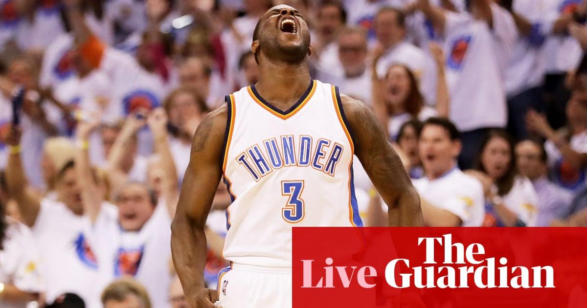 best website a53d1 46e2b Oklahoma City Thunder beat Golden State Warriors: NBA ...