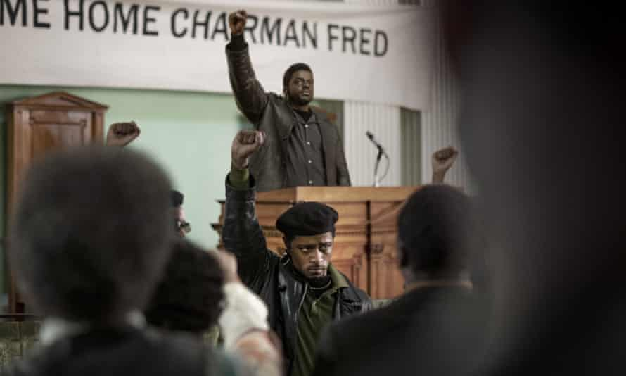 Lakeith Stanfield, foreground, and Daniel Kaluuya in Judas and the Black Messiah.