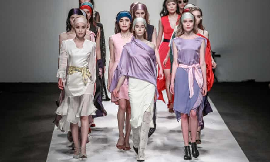 Models at Shanghai fashion week