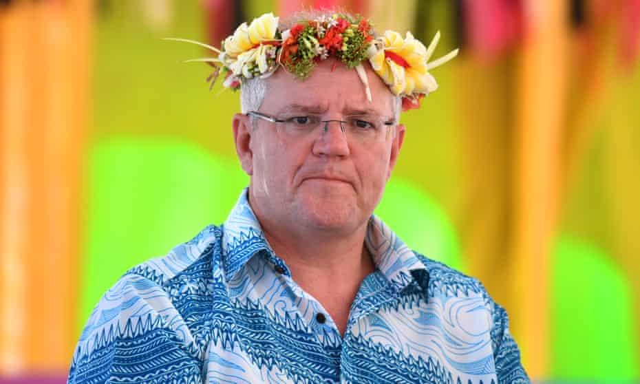 Scott Morrison at the Pacific Islands Forum in Funafuti, Tuvalu