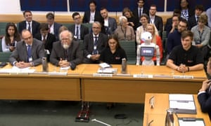 Pepper the robot giving evidence to the Commons education committee.
