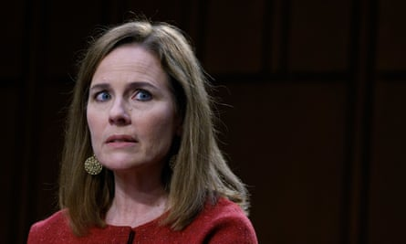 Amy Coney Barrett testifies on the second day of her Senate judiciary committee confirmation hearing.