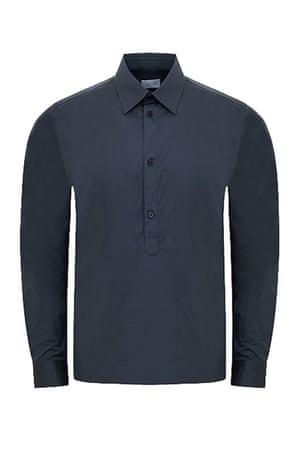 slate grey shirt Jigsaw