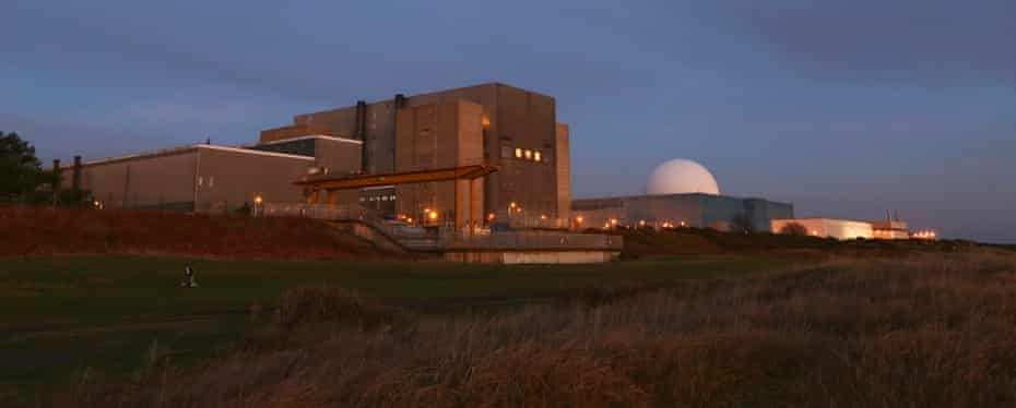 Decommissioned Sizewell A nuclear power station, left, and active Sizewell B in Suffolk.