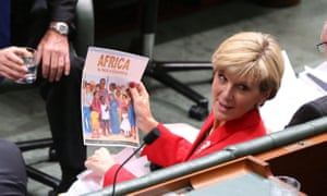 Foreign minister Julie Bishop during question time in the house of representatives this afternoon, Wednesday 17th June 2015.