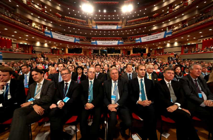 Delegates on the third day of the Conservative party conference.