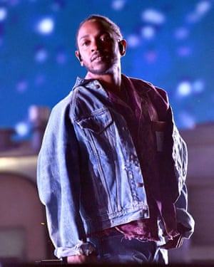 Rapper Kendrick Lamar performs as a special guest on the Coachella stage during week 1, day 1 of the Coachella Valley Music and Arts Festival on April 13, 2018 in Indio, California. (Photo by Scott Dudelson/Getty Images for Coachella )