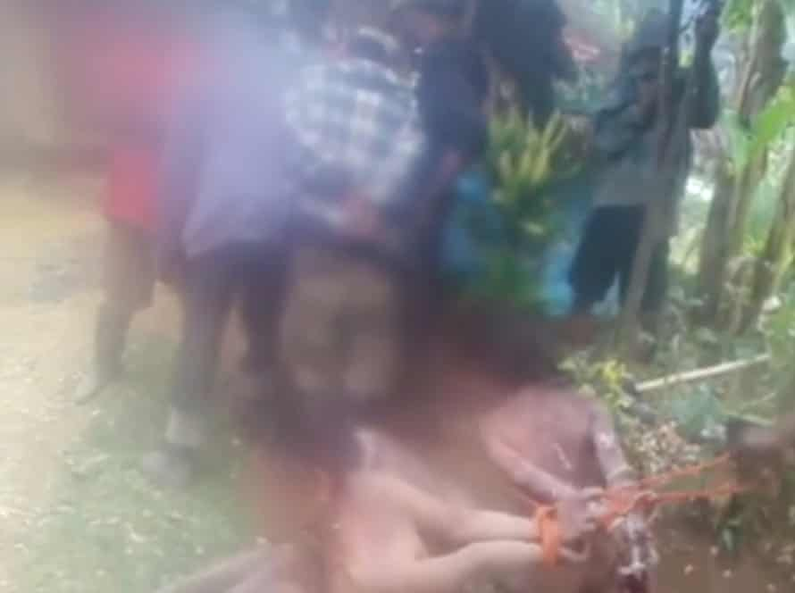 A video being shared on social media purports to show the torture of four women suspected of witchcraft in a Papua New Guinea village.
