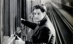 Robert Donat as Richard Hannay in Alfred Hitchcock's 1935 film version of The Thirty-Nine Steps.