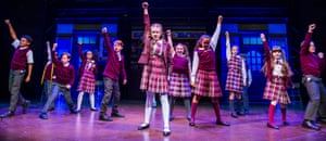 Leaves you buzzing … the cast of School of Rock.