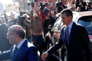 Michael Flynn leaves court in Washington.