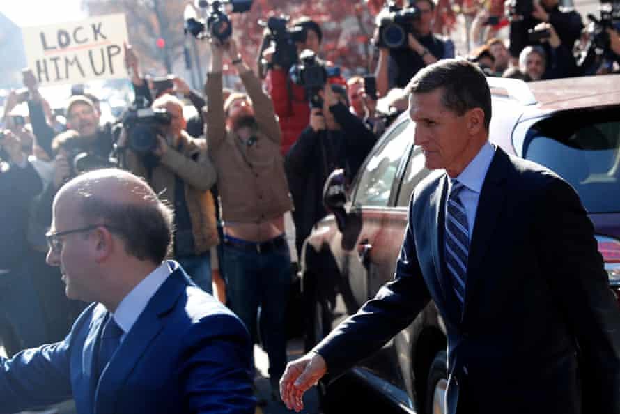Michael Flynn leaves court in Washington.