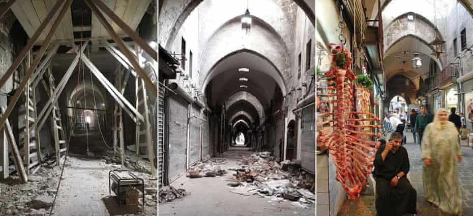 A sequence showing the restoration of the Al-Saqatiyya Souk, which was finished in September last year.